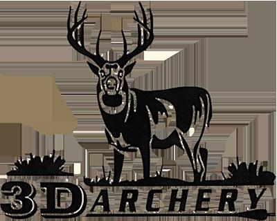 3D Archery Logo with Deer